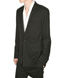Dior Homme - Black Wool Smoking Jacket for Men - Lyst