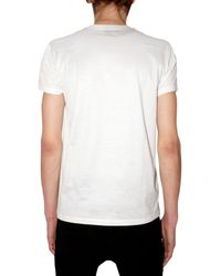 Dior Homme | White Coal Print Jersey T-shirt for Men | Lyst