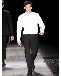 Dior Homme | White Contrasting Collar Poplin Shirt for Men | Lyst