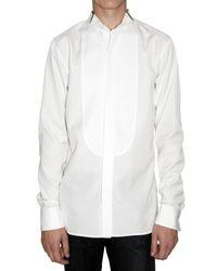 Dior Homme | White Plastron Poplin Tuxedo Shirt for Men | Lyst