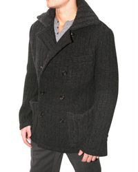 Dolce & Gabbana | Gray Thick Ribbed Pea Sweater Jacket for Men | Lyst