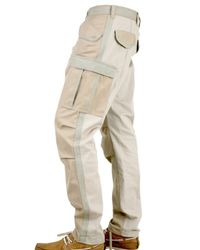 Dolce & Gabbana - Natural Cargo with Logo Trousers for Men - Lyst