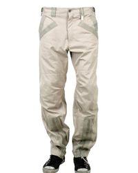 Dolce & Gabbana | Natural Grosgrain Trim Gabardine Cargo Trousers for Men | Lyst