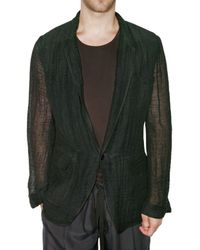 Dolce & Gabbana | Green Linen Gauze Jacket for Men | Lyst