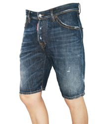 DSquared² | Blue Denim Shorts for Men | Lyst