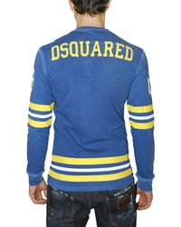 DSquared² - Blue Washed Jersey Hockey Long-sleeve T-shirt for Men - Lyst