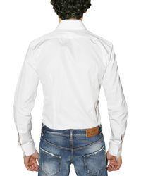 DSquared² | White Chic Poplin Dean Tuxedo Shirt for Men | Lyst