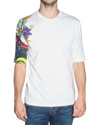 DSquared² | White Flower Tatoo T-shirt for Men | Lyst