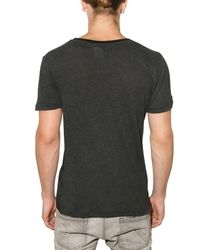 John Galliano - Black Semi Sheer Devore Jersey T-shirt for Men - Lyst