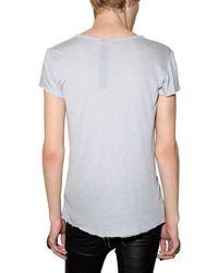 Gareth Pugh - Gray Silk and Modal Printed Jersey T-shirt for Men - Lyst