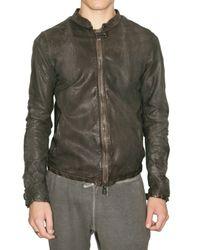Giorgio Brato | Green Vegetal Lambskin Biker Leather Jacket for Men | Lyst