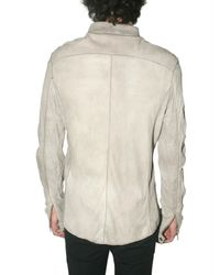 Giorgio Brato | White Washed Lambskin Shirt Leather Jacket for Men | Lyst