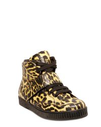 Givenchy - Multicolor Leopard Print High Top Calfskin Sneakers for Men - Lyst