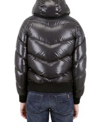 Izzue | Black Quilted Down Feather Sport Jacket for Men | Lyst