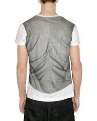 John Galliano - White Trompe Loeil Vest Print Jersey T-shirt for Men - Lyst