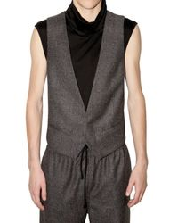 Kris Van Assche | Gray Prince Of Wales Turtleneck Vest for Men | Lyst