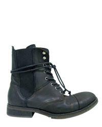 Ksubi - Black Lace Up Low Boots for Men - Lyst