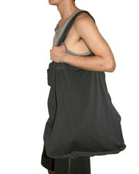 Laneus - Gray Cotton Fleece Shoulder Bag for Men - Lyst