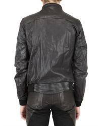 Meatpacking D - Black Washed Calf Leather Jacket for Men - Lyst
