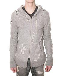 Miharayasuhiro | Gray Destroy Knit Sweatshirt for Men | Lyst