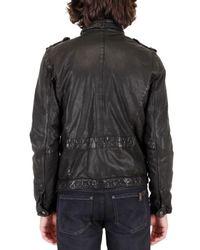 Neil Barrett | Black Washed Buffalo Leather Jacket for Men | Lyst