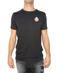 Philipp Plein | Black Skull Patch Embroidery Jersey T-shirt for Men | Lyst