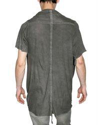 Pleasure Principle - Gray Ultra Thin Cotton Jersey T-shirt for Men - Lyst