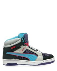 PUMA | Multicolor Leopard Ankle Height Basketball Sneakers for Men | Lyst