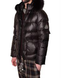Pyrenex - Black Fox Fur Hooded Sport Jacket for Men - Lyst