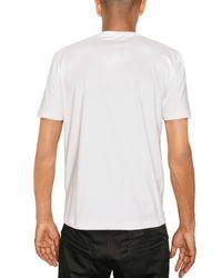 Raf Simons - White Fabric Application Jersey T-shirt for Men - Lyst