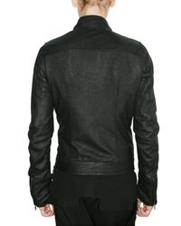 Rick Owens - Black Blistered Lambskin Biker Leather Jacket for Men - Lyst