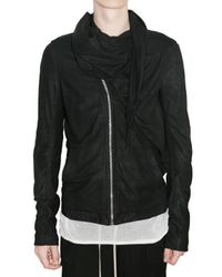 Rick Owens | Black Wrap Shawl Bomber Jacket for Men | Lyst
