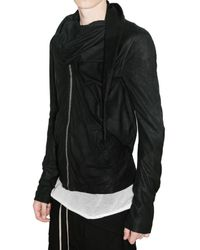 Rick Owens - Black Wrap Shawl Bomber Jacket for Men - Lyst