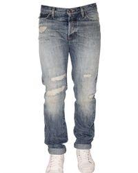 Roy Rogers | Blue Slim Destroyed Selvage Denim Jeans for Men | Lyst