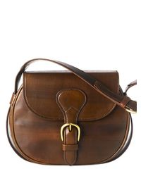 Saddlers Union | Brown Brass Buckled Cow Leather Shoulder Bag for Men | Lyst