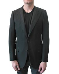 Simon Spurr | Black Barathea Wool Convertible Lapel Jacket for Men | Lyst