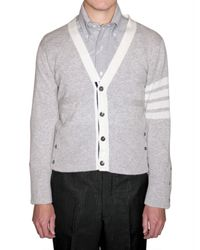 Thom Browne | Gray Cashmere Knit Cardigan Sweater for Men | Lyst
