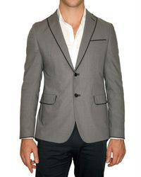 Tonello | Gray Silk Blend Superlight Wool Jacket for Men | Lyst