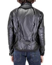 Tru Trussardi   Black Rain Stop Leather Jacket for Men   Lyst