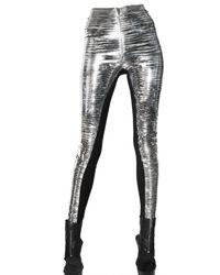 Gareth Pugh | Slit Metallic Pvc Trousers | Lyst