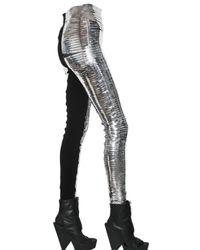 Gareth Pugh Slit Metallic Pvc Trousers