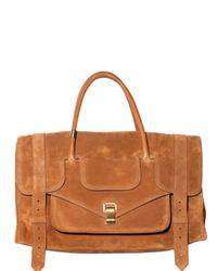 Proenza Schouler | Brown Ps1 Keep All Small Suede Top Handle | Lyst
