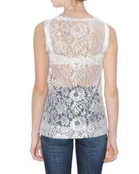 Dolce & Gabbana | White Lace Tank Top | Lyst