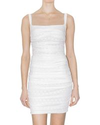 Dolce & Gabbana | White Ruffled Stretch Lace Dress | Lyst