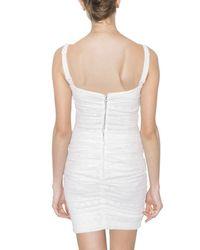 Dolce & Gabbana - White Ruffled Stretch Lace Dress - Lyst