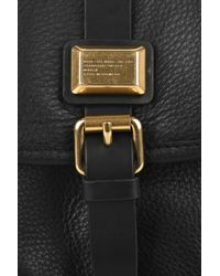 Marc By Marc Jacobs Black Saddlery Cadet Leather Crossbody Bag
