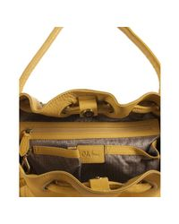 Cole Haan | Yellow Dark Sunshine Leather Village Ii Small Bucket Tote | Lyst