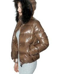 Duvetica - Brown Adhara Fur Down Jacket - Lyst