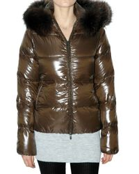 Duvetica | Brown Adhara Fur Down Jacket | Lyst