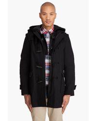 Comme des Garçons | Black Double Hooded Toggle Coat for Men | Lyst